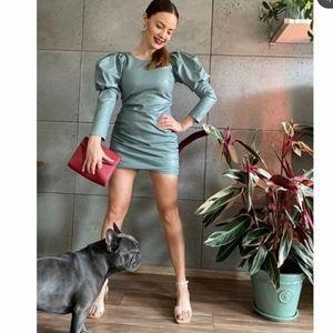 ZARA Faux Leather dress TRF